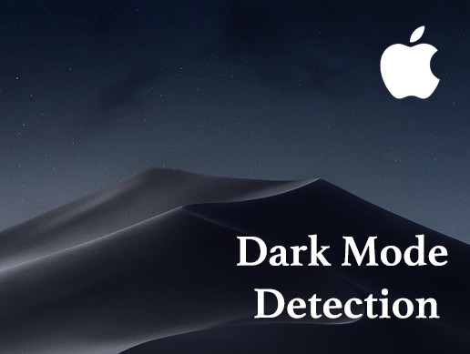 Apple Dark Mode Detection