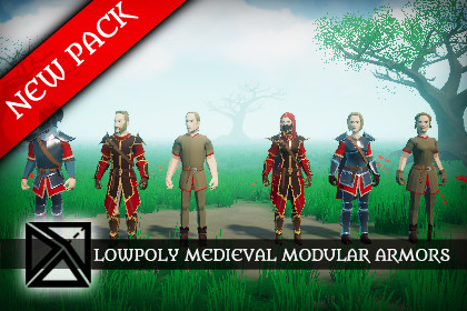 Lowpoly Modular Armors - Free Pack