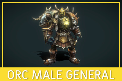 Orc Male General [Fantasy]