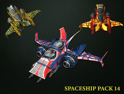 3D Spaceship Pack Vol 14