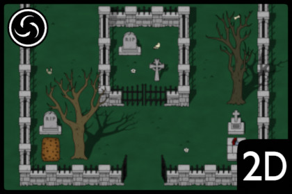 2D Top Down Cemetery World Tileset