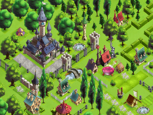 Fantasy Town 2D Isometric Assets