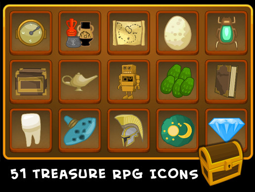 Treasure Icons (2D)
