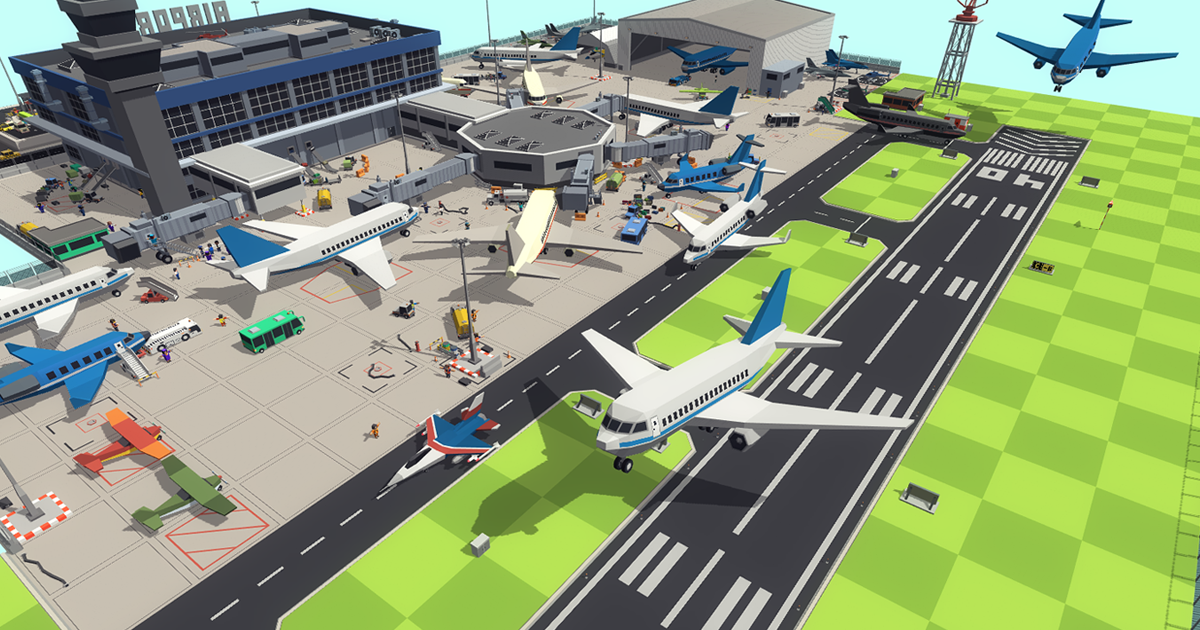 Simple Airport - Cartoon Assets