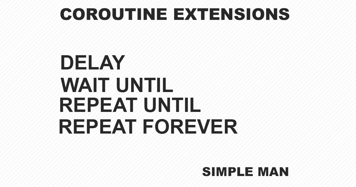 Coroutine Extensions