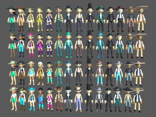 Wild West Characters Mega Pack