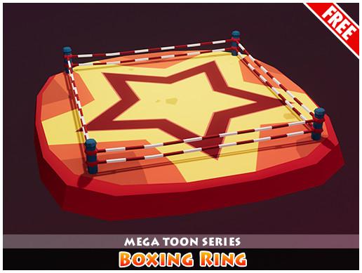 Meshtint Free Boxing Ring Mega Toon Series