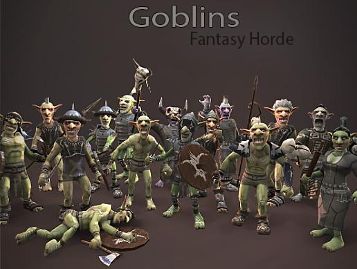 پکیج یونیتی Fantasy Horde - Goblin