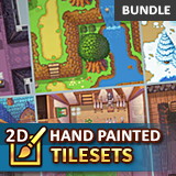2D Hand Painted Tilesets BUNDLE