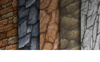 Hand Painted Stone Textures