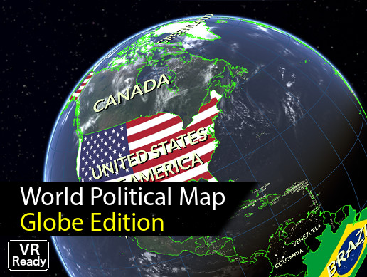 World Map Globe Edition Asset Store