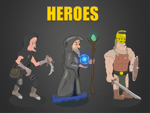 Fantastic Heroes: Mage, Warrior, Thief