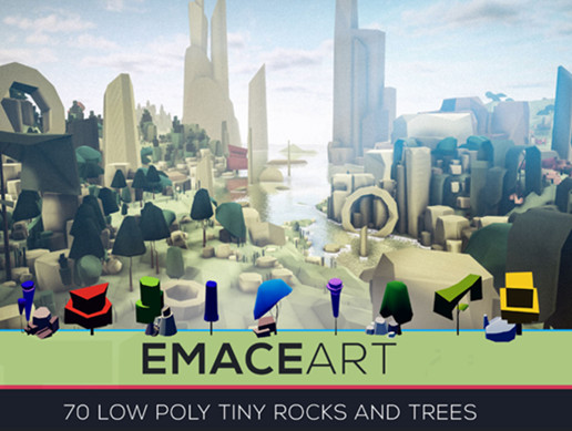 Low Poly Nature Project - Trees And Rocks Pack Tiny Edition