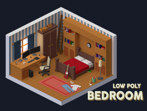 Low Poly - Bedroom Pack