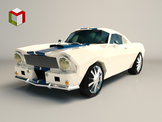 Low Poly Muscle Car 02