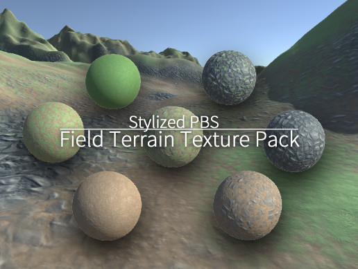 3+4 Stylized PBS Field Terrain Texture Pack