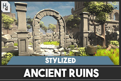 Stylized Ancient Ruins Environment