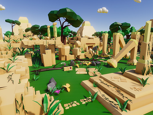 Jungle Ruins Low Poly
