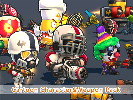 Cartoon Character&Weapon pack