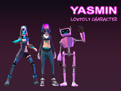 Yasmin  LOWPOLY CHARACTER
