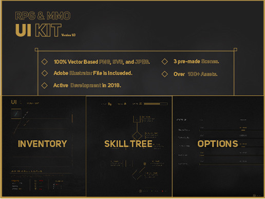 MMO&RPG UI Kit - Asset Store