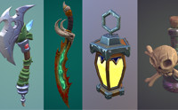 Stylized fantasy items