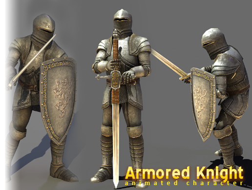 Medieval Knight (PBR) Animated