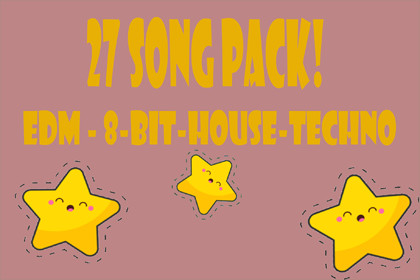 26 Song Music Pack - 8 Bit - EDM - House - Techno