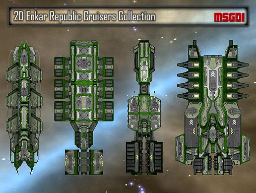 2D Enkar Republic Cruisers Collection