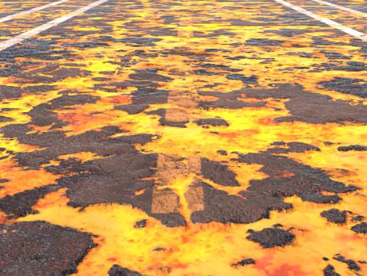 Molten Road Material