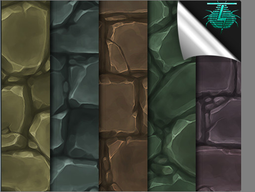 Hand Painted Stone Wall Textures - Vol. 01