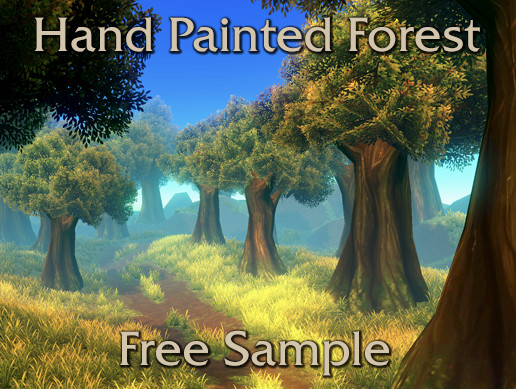 Hand Painted Forest Environment Free Sample