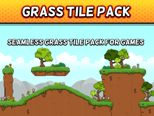 2D Game Grass Tile Pack