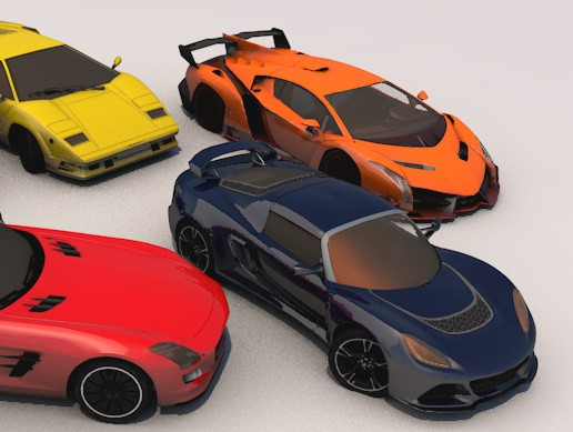 pack of 5 sports car low poly Part 2