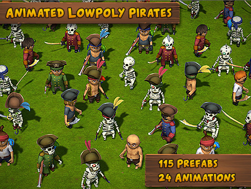 Animated Lowpoly Pirates