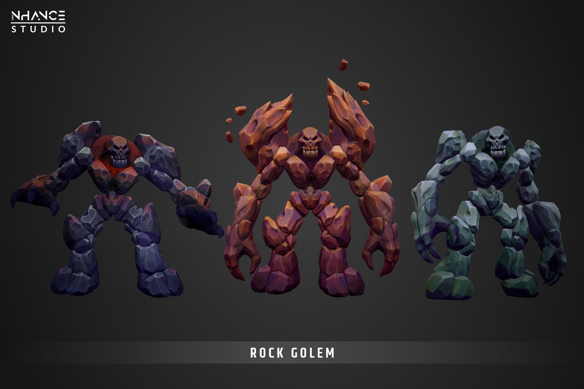 Modular Stylized Fantasy Rock Golem