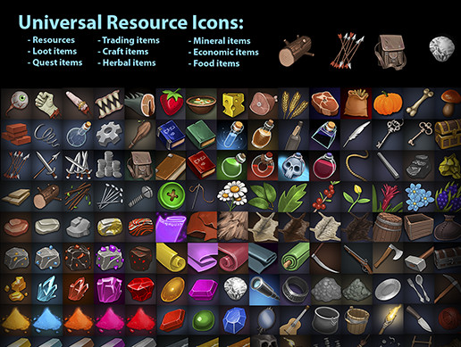Universal Resource Icons