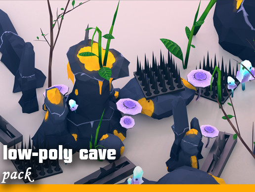 Fantasy cave pack (low-poly)