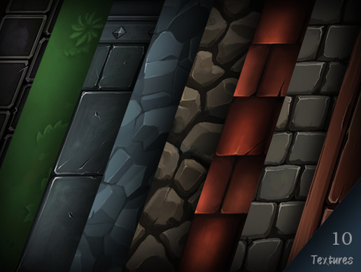 Fantasy Hand Painted Tiling Textures Pack