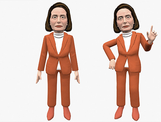Nancy Pelosi caricature