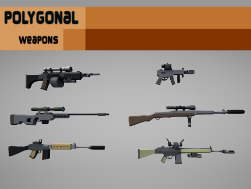 Aligned Games Polygonal Weapons Asset Package