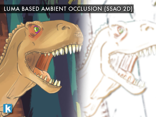 Luma Based Ambient Occlusion (SSAO 2D)