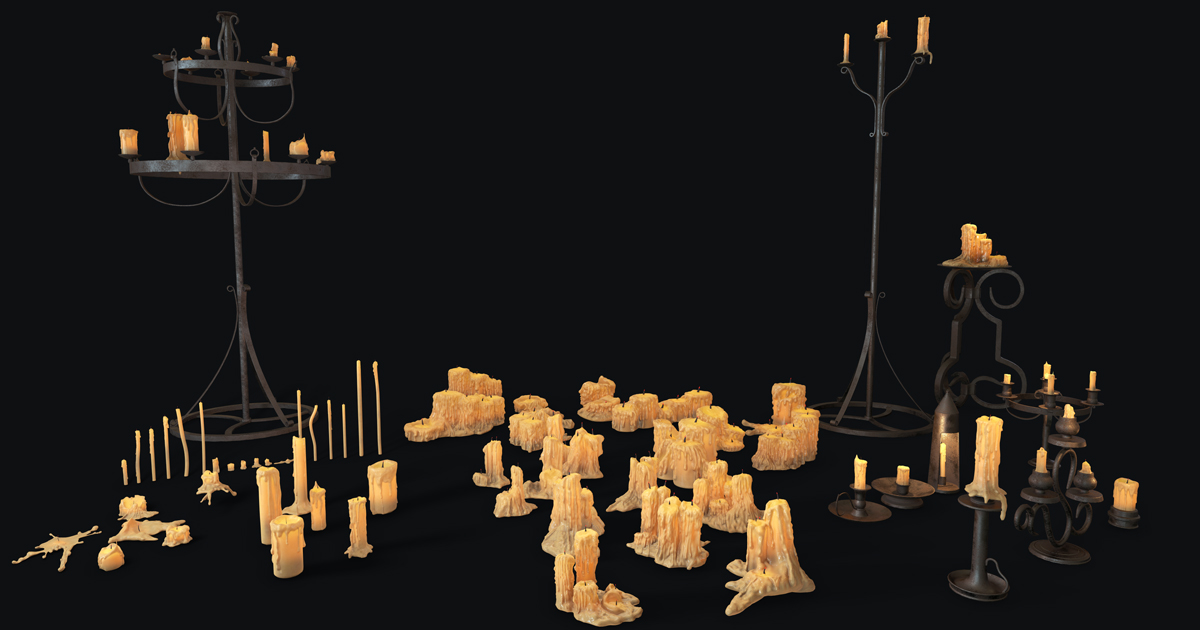Large Candles Collection