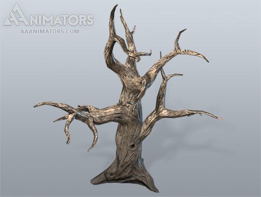 Low Poly Dead Tree 01