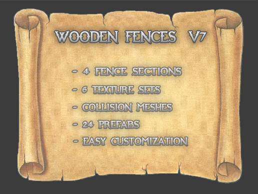 Wooden Fences V7 (Concave)