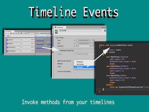 Timeline events