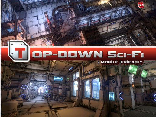 پکیج محیط یونیتی Top-Down Sci-Fi