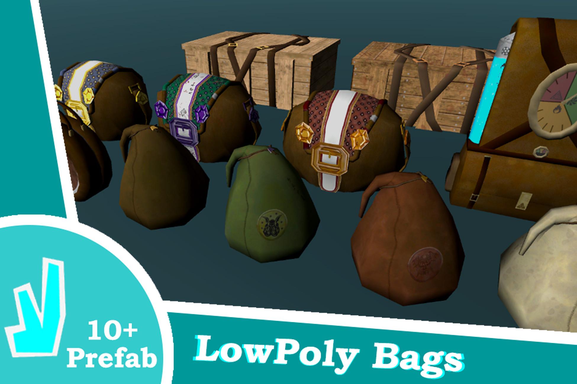 LowPoly Fantasy Bags
