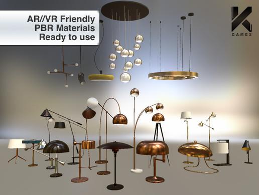 PBR Lamps Set