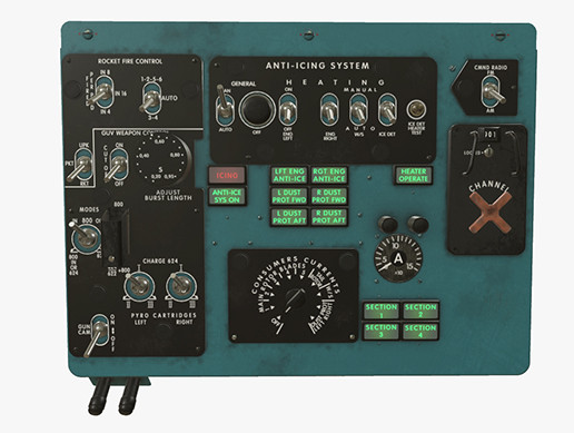 Mi-8MT Mi-17MT Left Overhead Panels Board 1 English